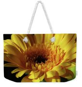 Yellow Gerbera Macro Weekender Tote Bag