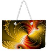 Yellow Gold Red Decorative Abstract Art Weekender Tote Bag