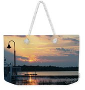 Yellow Gold Sunset Tapestry Weekender Tote Bag