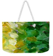 Yellow Green - Abstract Weekender Tote Bag