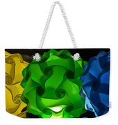 Yellow Green And Blue Weekender Tote Bag