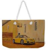 Yellow Gt3 Porsche Weekender Tote Bag