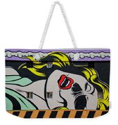 Yellow Haired Weekender Tote Bag