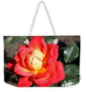 Yellow Heart Rose Weekender Tote Bag