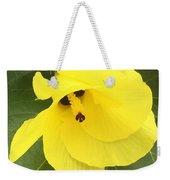 Yellow Hibiscus Weekender Tote Bag