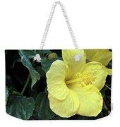 Yellow Hibiscus Watercolor Weekender Tote Bag