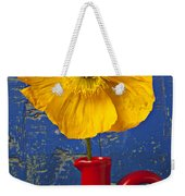 Yellow Iceland Poppy Red Pitcher Weekender Tote Bag