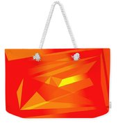 Yellow In Red Weekender Tote Bag