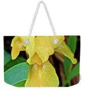 Yellow Iris At Pilgrim Place In Claremont-california Weekender Tote Bag