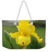 Yellow Iris Flowers Art Prints Cards Irises Summer Garden Landscape Weekender Tote Bag