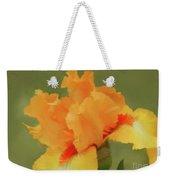 Yellow Iris Pillow Weekender Tote Bag