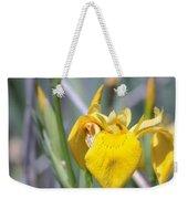 Yellow Iris Wild Flower Weekender Tote Bag
