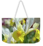 Yellow Irises Flowers Iris Flower Art Print Floral Botanical Art Baslee Troutman Weekender Tote Bag