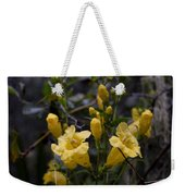 Yellow Jessamine With Raindrops Weekender Tote Bag
