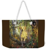 Yellow Lab In Fall Weekender Tote Bag
