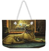 Yellow Lab With Kitten Weekender Tote Bag