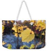 Yellow Leaf Newton Upper Falls Fall Foliage Weekender Tote Bag