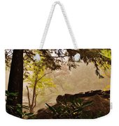 Yellow Leaves In The Mist Weekender Tote Bag