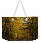 Yellow Leaves Road Weekender Tote Bag