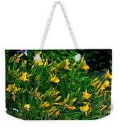Yellow Lily Flowers Weekender Tote Bag