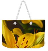 Yellow Lily Mirror Weekender Tote Bag