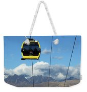 Yellow Line Cable Cars And Andes Mountains Bolivia Weekender Tote Bag