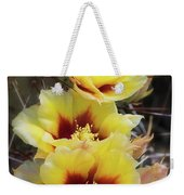 Yellow Long- Spined Prickly Pear Cactus  Weekender Tote Bag