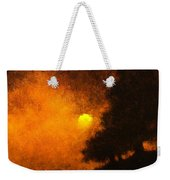 Yellow Moon Weekender Tote Bag