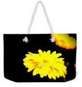 Yellow Mum On Black Backround Weekender Tote Bag