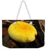 Yellow Mushroom Cap Weekender Tote Bag