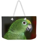 Yellow Naped Amazon Parrot Weekender Tote Bag