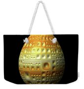 Yellow Nubbled Egg Weekender Tote Bag