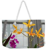 Yellow Orange And Purple Flowers Weekender Tote Bag