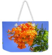 Yellow-orange Horn Flowers 01 Weekender Tote Bag