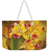 Yellow Orchids Acrylic Weekender Tote Bag
