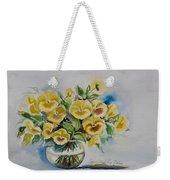 Yellow Pansies Weekender Tote Bag