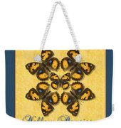 Yellow Pansy Butterfly Wheel Weekender Tote Bag