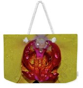Yellow Phalaenopsis Centerpiece - Orchid And Raindrops 003 Weekender Tote Bag