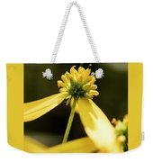 Yellow Pollinate Weekender Tote Bag