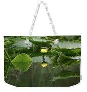 Yellow Pond Lily Weekender Tote Bag