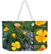 Yellow Poppies Collage  Weekender Tote Bag