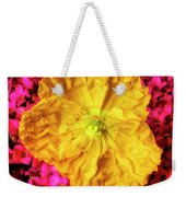 Yellow Poppy And Kalanchoe Flowers Weekender Tote Bag
