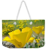 Yellow Poppy Flower Meadow Landscape Art Prints Baslee Troutman Weekender Tote Bag