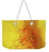 Yellow Poppy With Rain Weekender Tote Bag