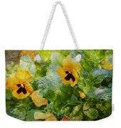 Yellow Pretty Little Flowers Weekender Tote Bag