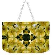 Yellow Primrose Kaleidoscope Weekender Tote Bag