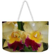 Yellow Purple Orchids Weekender Tote Bag