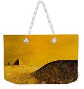 Yellow Pyramid Weekender Tote Bag
