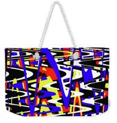 Yellow Red Blue Black And White Abstract Weekender Tote Bag