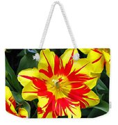 Yellow Red Flower Weekender Tote Bag